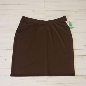 Honey and Lace (P!PHANY) size 3x brown skirt. (P5)